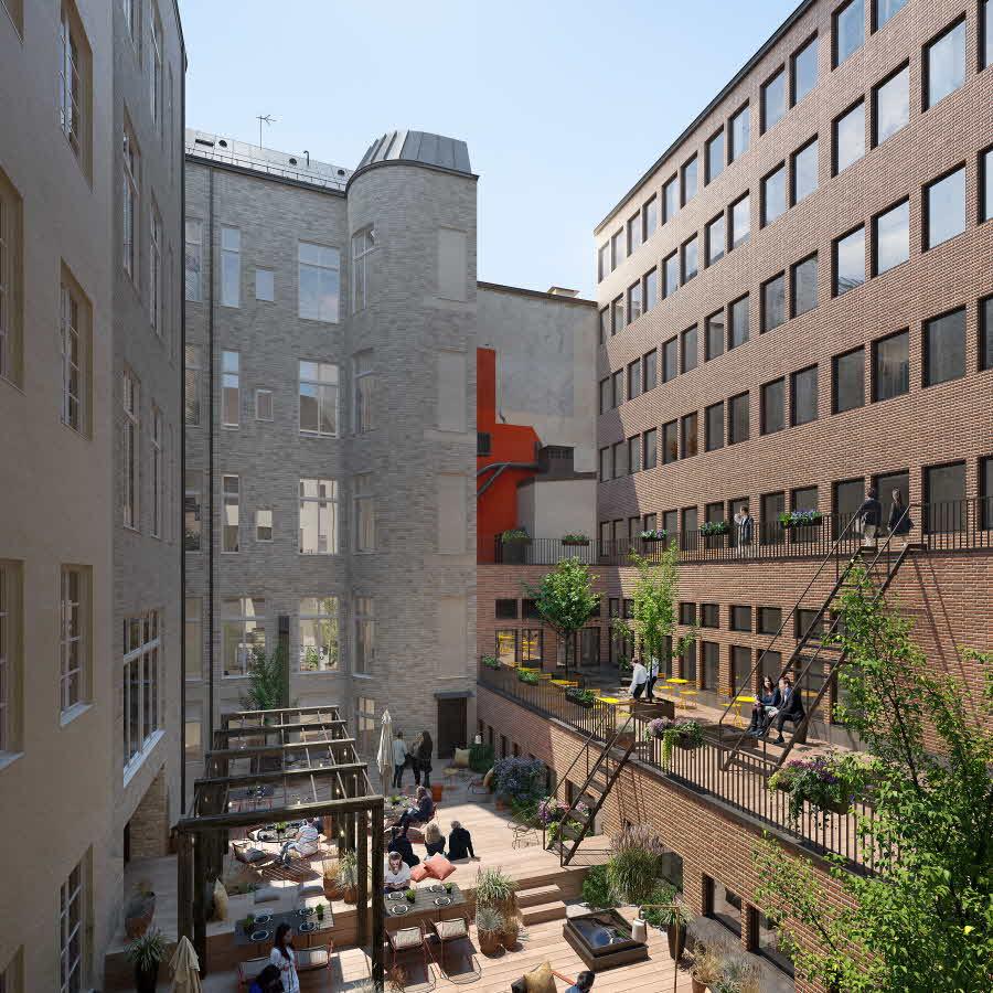 En grön hemlighet på Kungsgatan 9.